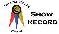 Crystal Creek's Hot To Trot Show Record